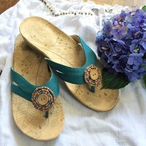 Sbicca Turquoise Sandals With Beads 7M